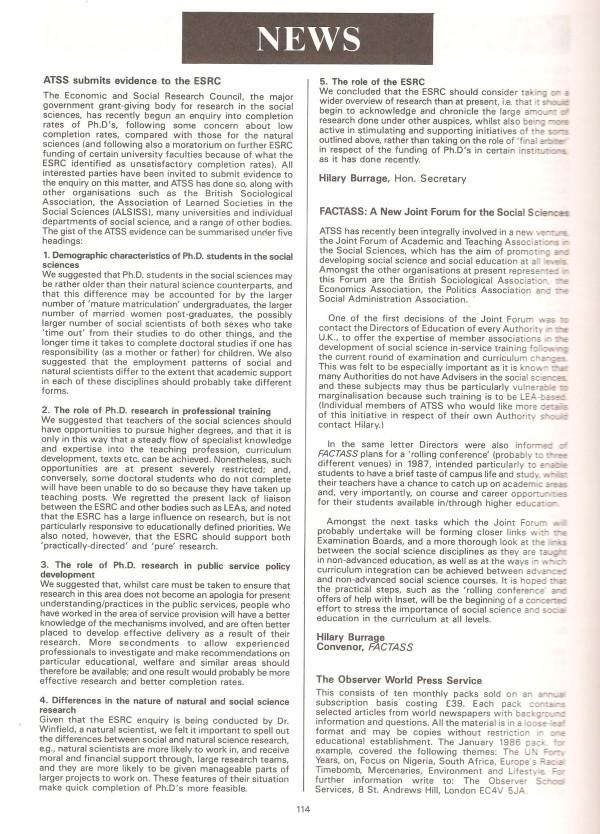 HB 1986 SST Vol15 No3 FACTASS & ESRC reports